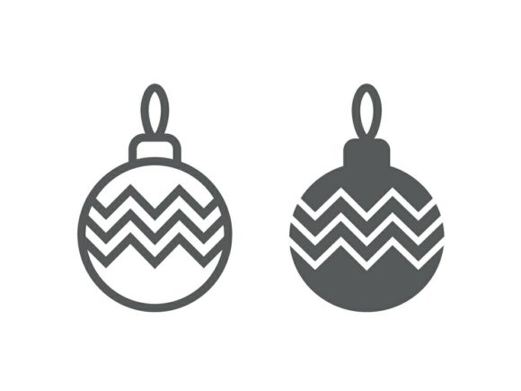 Download Free Christmas Tree Ball Line And Glyph 12 Graphic By Anrasoft for Cricut Explore, Silhouette and other cutting machines.
