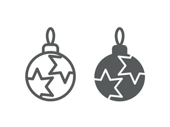 Download Free Christmas Tree Ball Line And Glyph 15 Graphic By Anrasoft for Cricut Explore, Silhouette and other cutting machines.