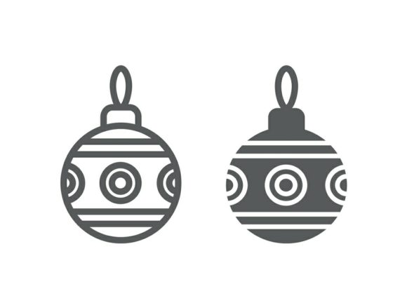 Download Free Christmas Tree Ball Line And Glyph 17 Graphic By Anrasoft for Cricut Explore, Silhouette and other cutting machines.