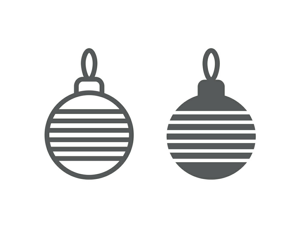 Download Free Christmas Tree Ball Line And Glyph 18 Graphic By Anrasoft for Cricut Explore, Silhouette and other cutting machines.