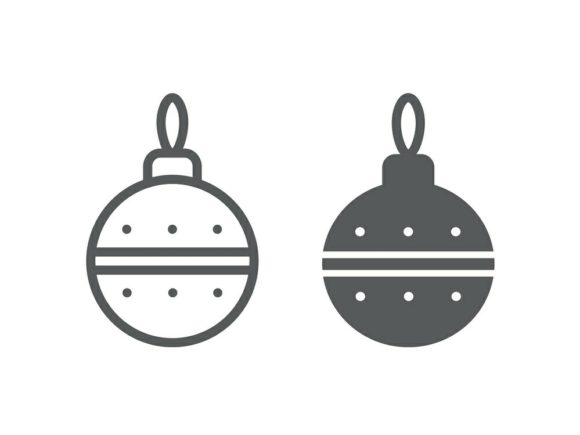 Download Free Christmas Tree Ball Line And Glyph 19 Graphic By Anrasoft for Cricut Explore, Silhouette and other cutting machines.