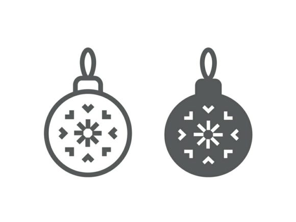 Download Free Christmas Tree Ball Line And Glyph 20 Graphic By Anrasoft SVG Cut Files