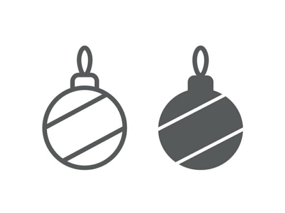 Download Free Christmas Tree Ball Line And Glyph 9 Graphic By Anrasoft for Cricut Explore, Silhouette and other cutting machines.