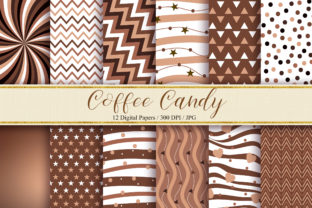 Download Free Coffee Candy Background Digital Papers Graphic By Pinkpearly for Cricut Explore, Silhouette and other cutting machines.