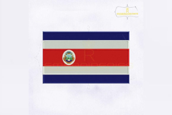 Costa Rica Flag North America Embroidery Design By RoyalEmbroideries