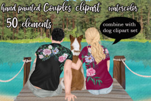 Print on Demand: Couple Clipart Mug Design Graphic Illustrations By LeCoqDesign