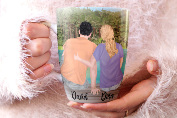 Couple Clipart Mug Design Graphic Illustrations By LeCoqDesign - Image 6