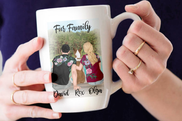 Couple Clipart Mug Design Graphic Illustrations By LeCoqDesign - Image 7