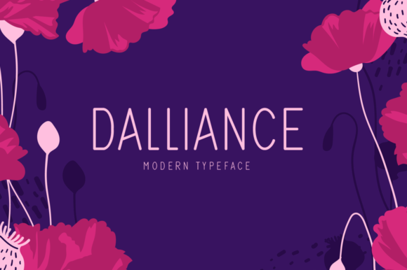 Print on Demand: Dalliance Display Font By Seemly Fonts