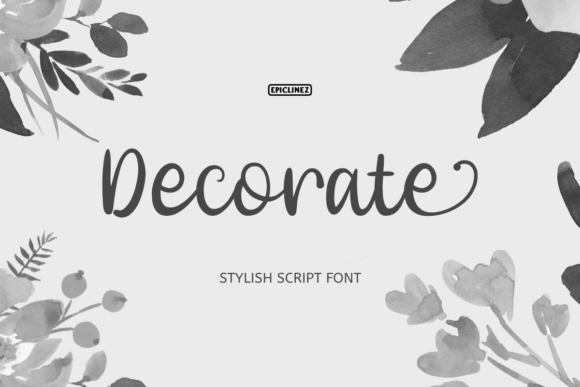 Print on Demand: Decorate Script & Handwritten Font By Epiclinez