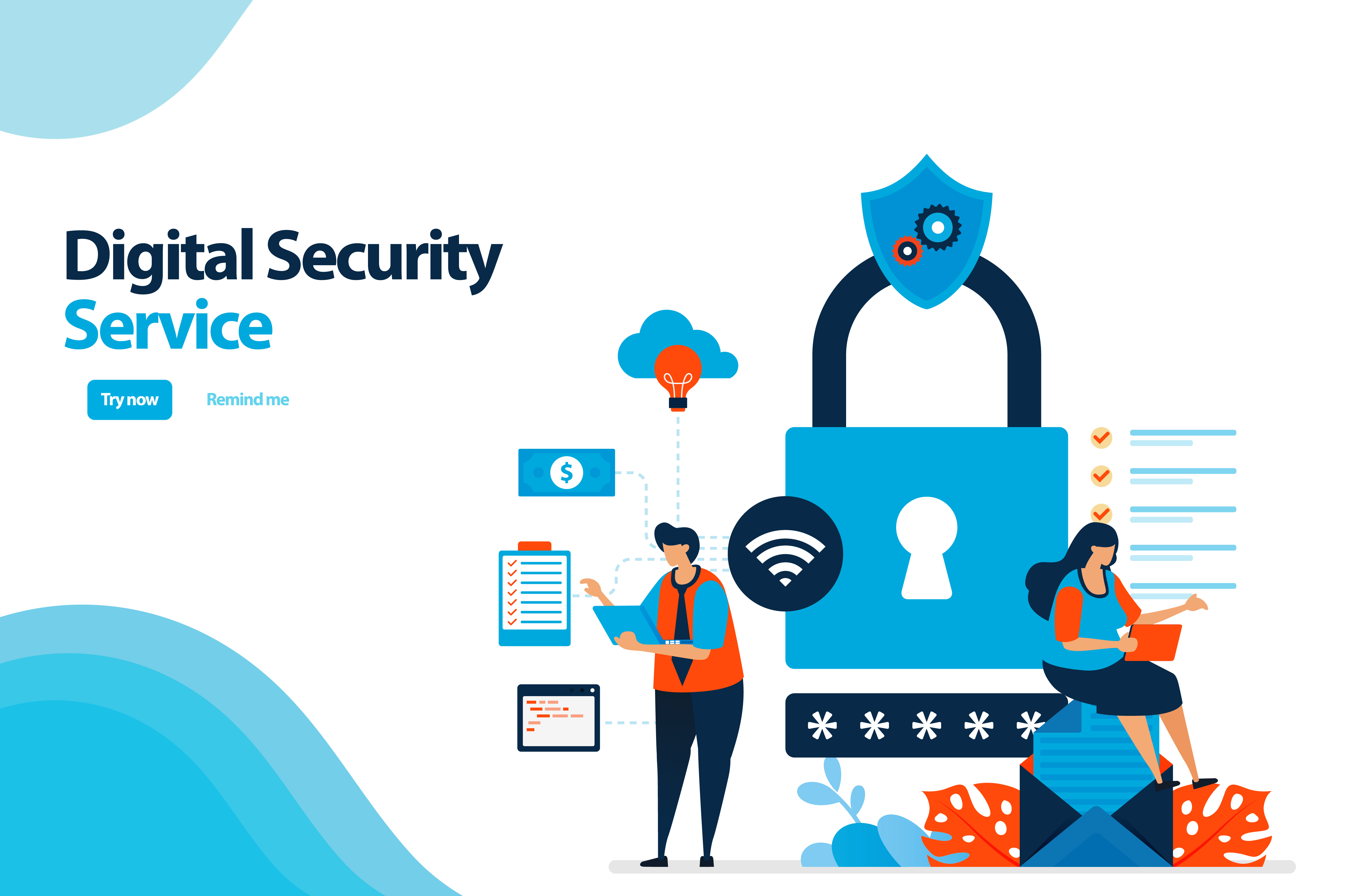 Download Free Digital Security Service To Protect Graphic By Setiawanarief111 for Cricut Explore, Silhouette and other cutting machines.