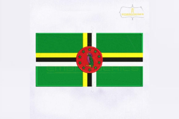 Dominica Flag South America Embroidery Design By RoyalEmbroideries