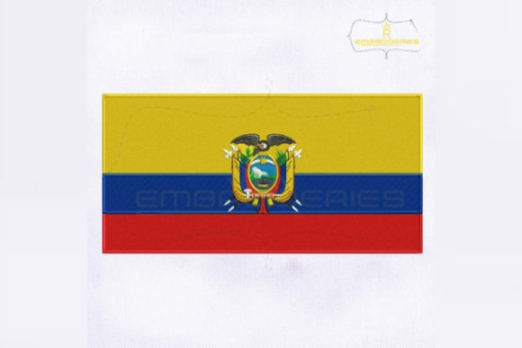 Ecuador Flag South America Embroidery Design By RoyalEmbroideries