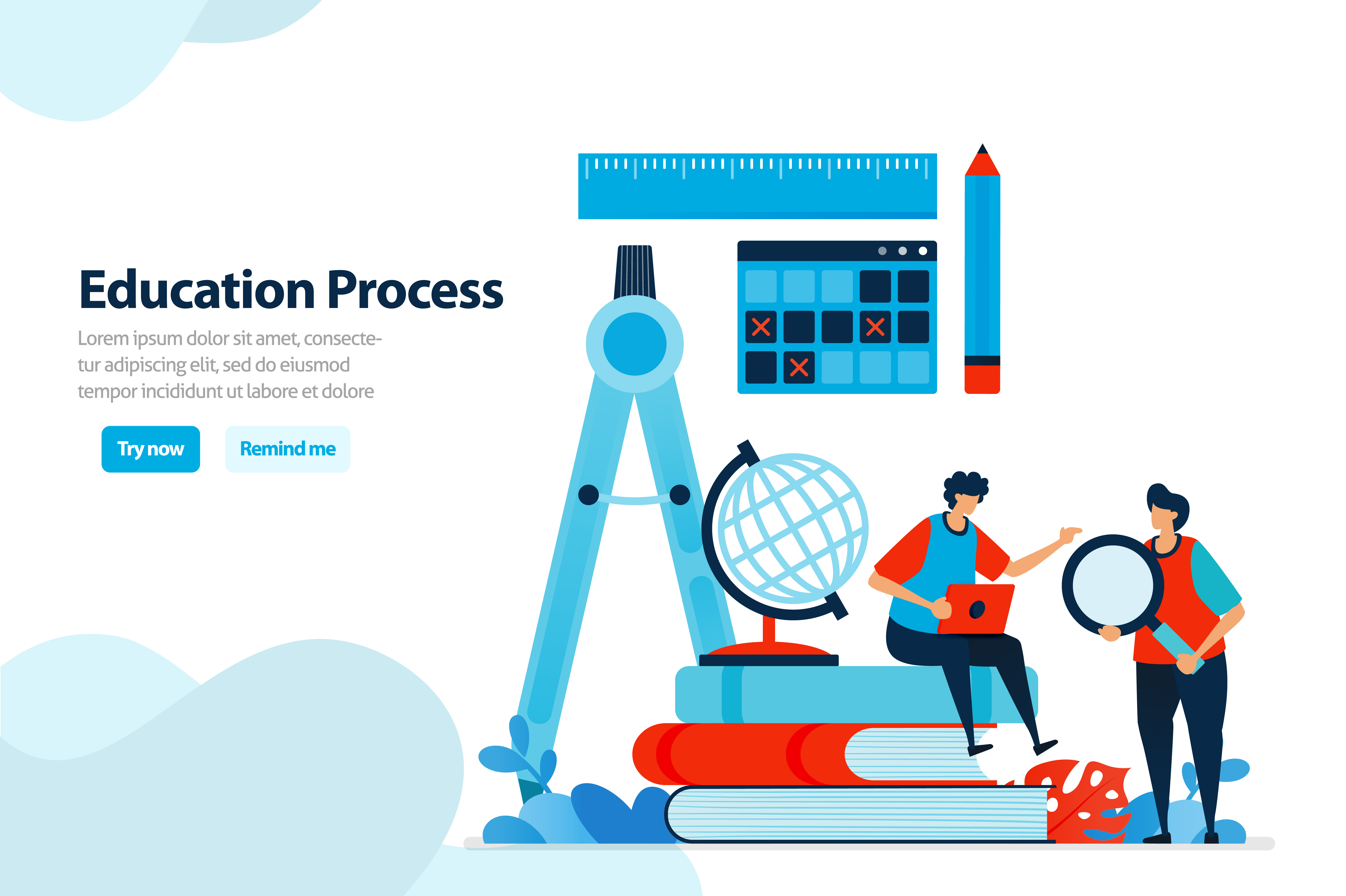 Download Free Educational Process And Modern Learning Graphic By for Cricut Explore, Silhouette and other cutting machines.