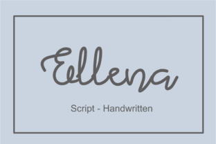 Print on Demand: Ellena Script & Handwritten Font By nuraisyahamalia1729