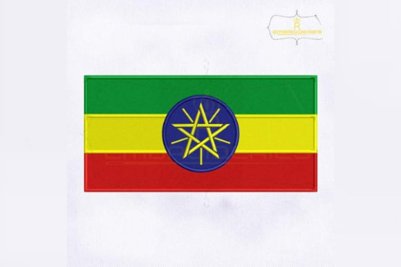 Ethiopia Flag Africa Embroidery Design By RoyalEmbroideries