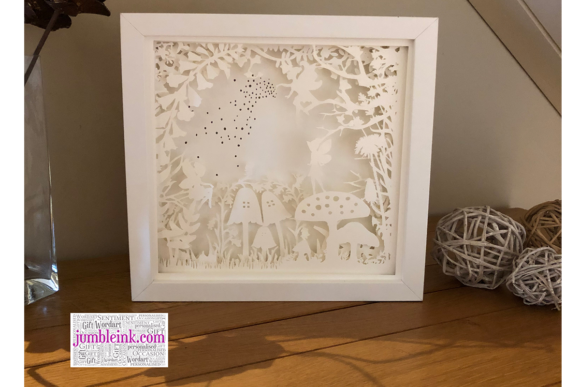 Fairy Garden 3D Paper Cut Light Box Graphic Download