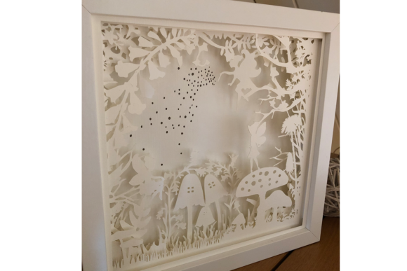 Fairy Garden 3D Paper Cut Light Box Graphic Item