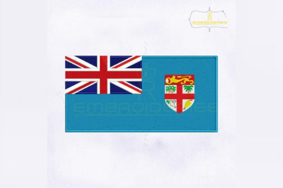 Fiji Flag Asia Embroidery Design By RoyalEmbroideries