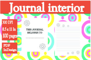 Download Free Floral Journal Interior Graphic By Ivana Prue Creative Fabrica for Cricut Explore, Silhouette and other cutting machines.