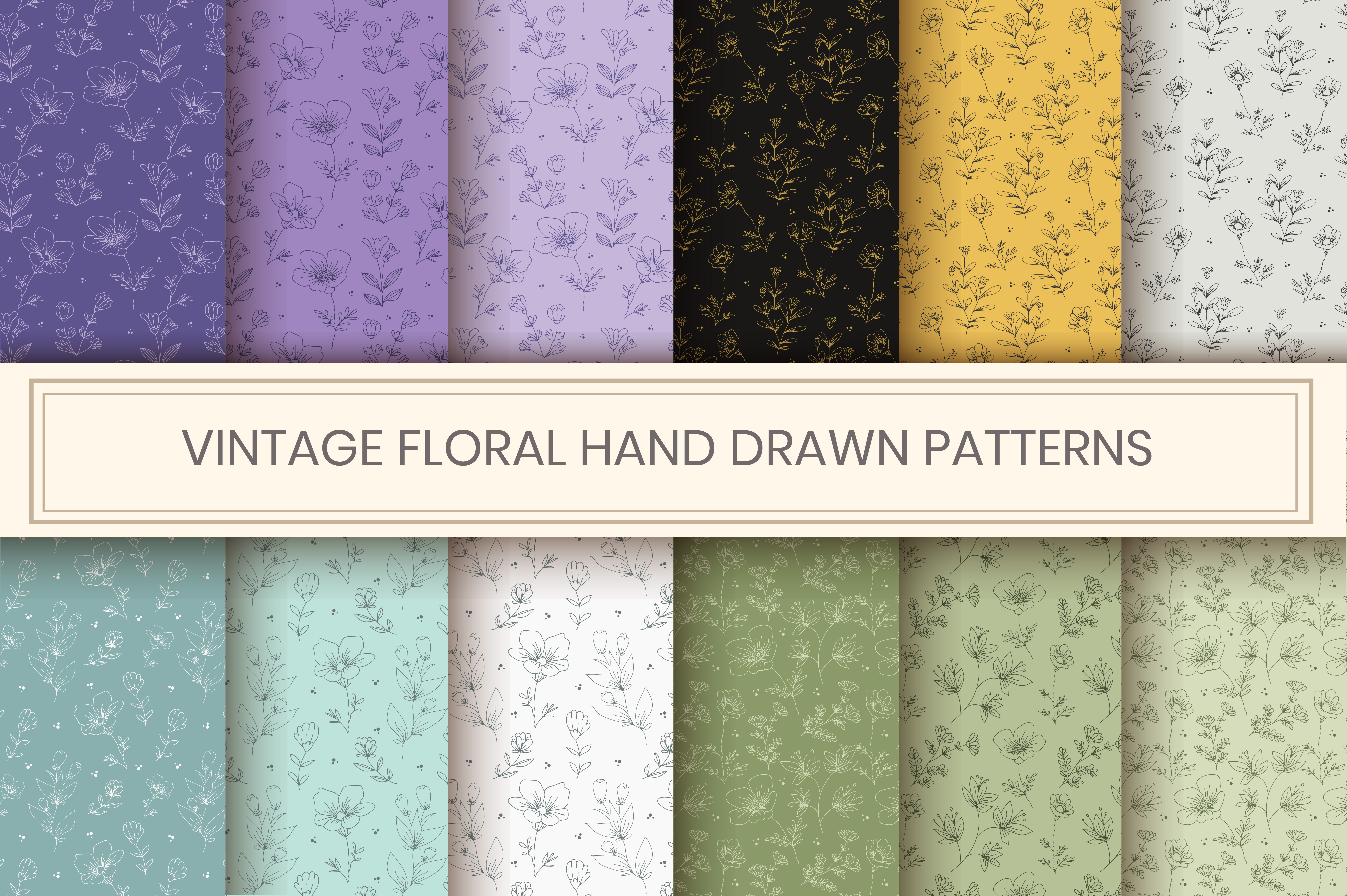 Download Free Floral Seamless Pattern Graphic By Iorozuya Creative Fabrica for Cricut Explore, Silhouette and other cutting machines.
