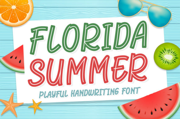 Print on Demand: Florida Summer Display Font By Kotak Kuning Studio