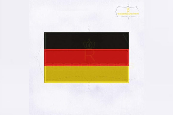 Germany Flag Europe Embroidery Design By RoyalEmbroideries