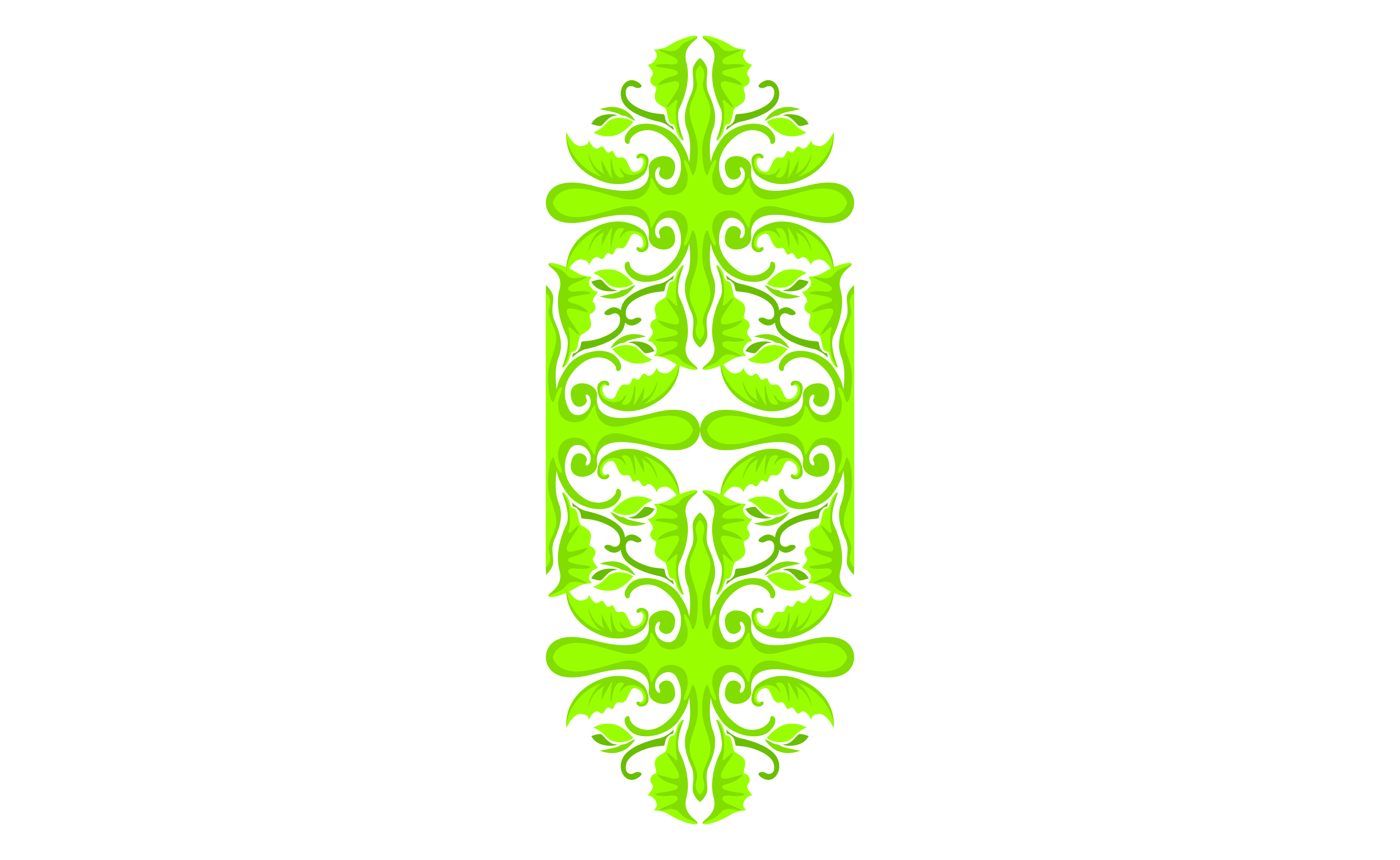 Download Free Green Ornament Border Design Graphic By Arief Sapta Adjie for Cricut Explore, Silhouette and other cutting machines.