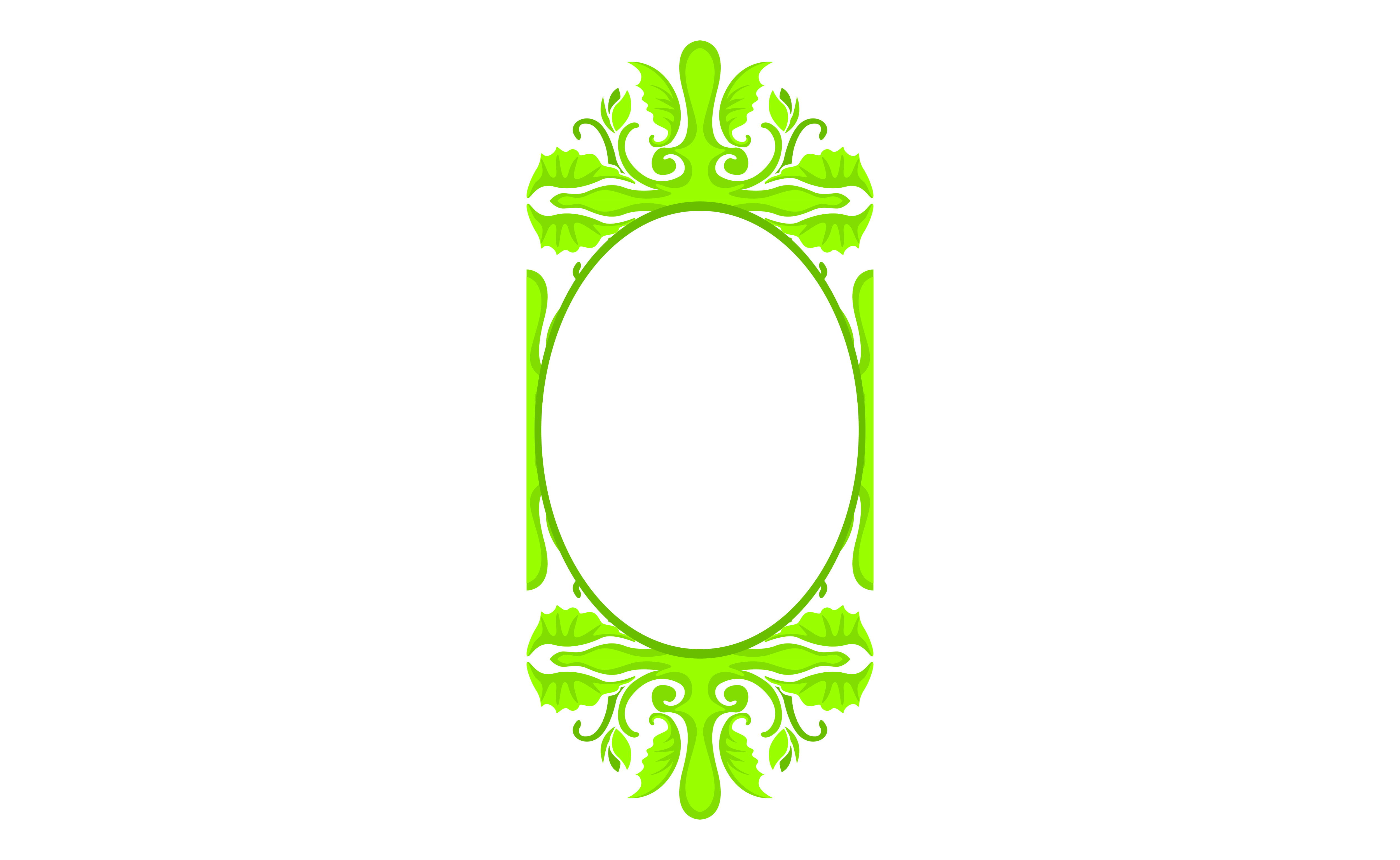Download Free Green Ornament Border Frame Design Graphic By Arief Sapta Adjie for Cricut Explore, Silhouette and other cutting machines.
