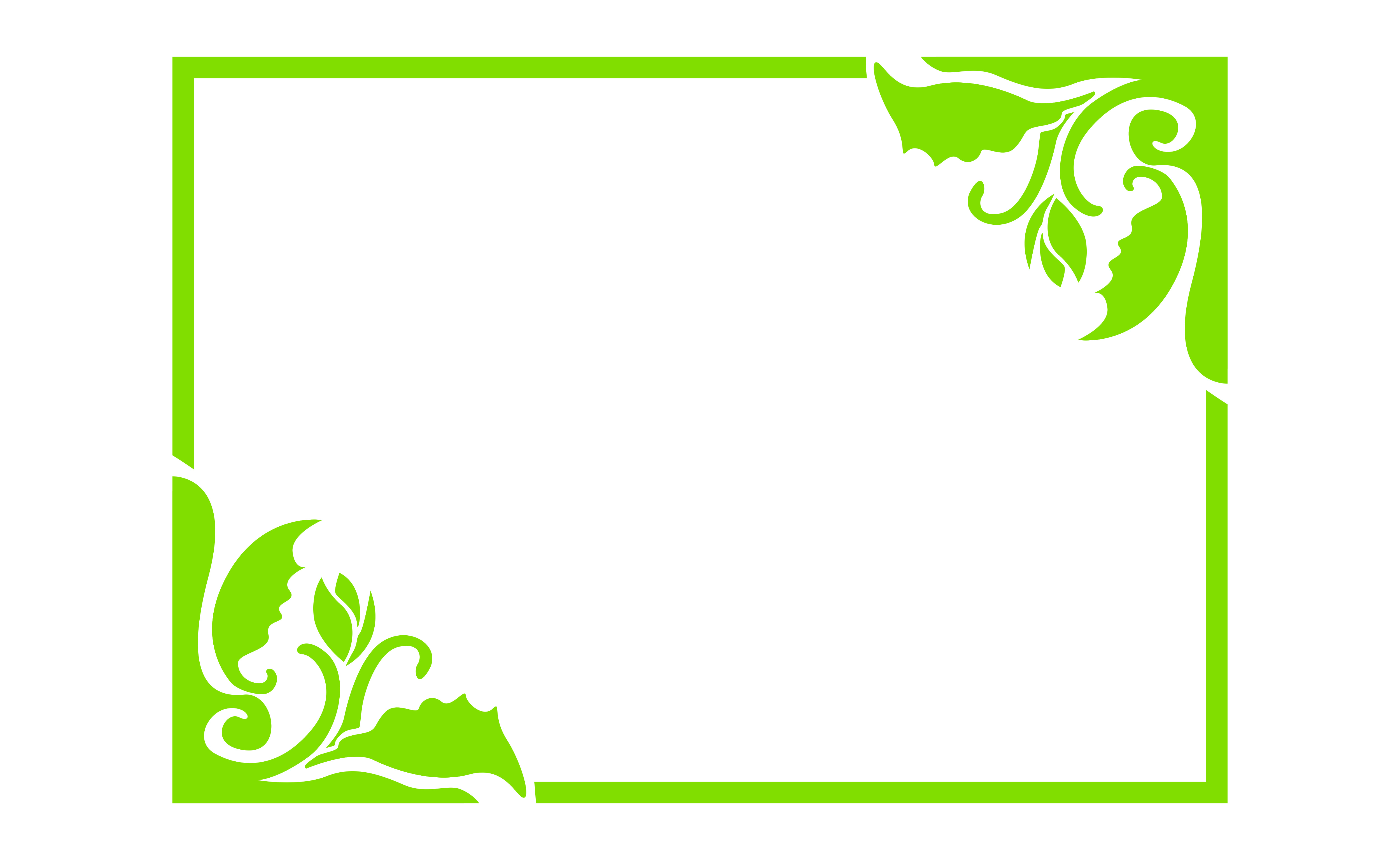 Download Free Green Flora Ornament Border Frame Design Graphic By Arief Sapta for Cricut Explore, Silhouette and other cutting machines.