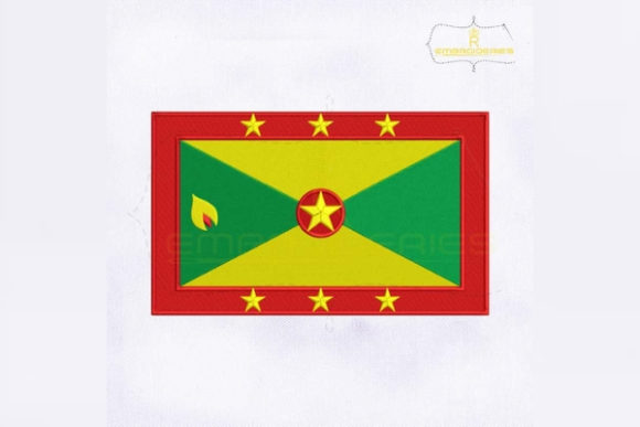 Grenada Flag South America Embroidery Design By RoyalEmbroideries