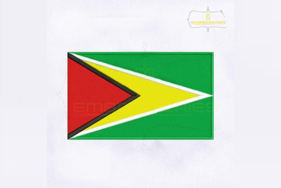 Guyana Flag South America Embroidery Design By RoyalEmbroideries