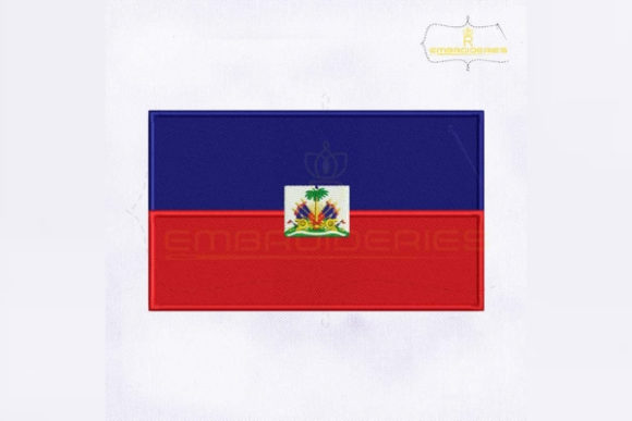Haiti Flag North America Embroidery Design By RoyalEmbroideries