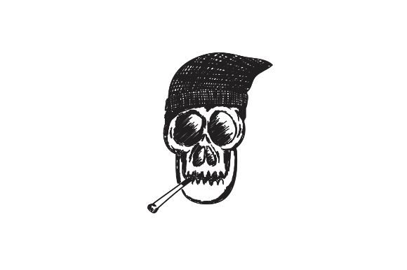 Hand Drawn Skull Smoking Hip Hop Graphic By Firdausm601
