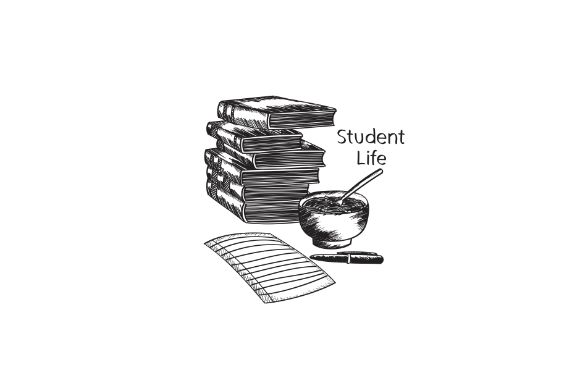 Download Free Hand Drawn Student Life Books Graphic By Firdausm601 Creative for Cricut Explore, Silhouette and other cutting machines.