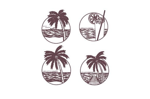 Download Free Hand Drawn Summer Illustration Graphic By Firdausm601 for Cricut Explore, Silhouette and other cutting machines.