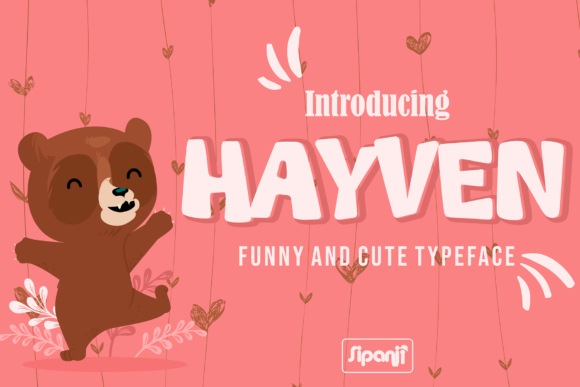 Download Free Hayven Font By Sipanji Figuree Creative Fabrica for Cricut Explore, Silhouette and other cutting machines.
