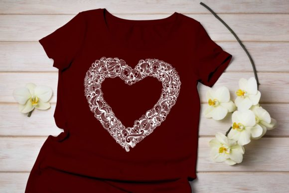Download Free Heart Cut File Graphic By Eva Barabasne Olasz Creative Fabrica for Cricut Explore, Silhouette and other cutting machines.