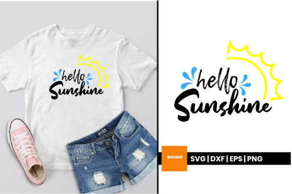 Download Free Hello Sunshine Graphic By Maumo Designs Creative Fabrica for Cricut Explore, Silhouette and other cutting machines.