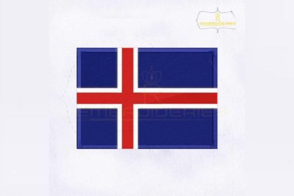 Iceland Flag Europe Embroidery Design By RoyalEmbroideries