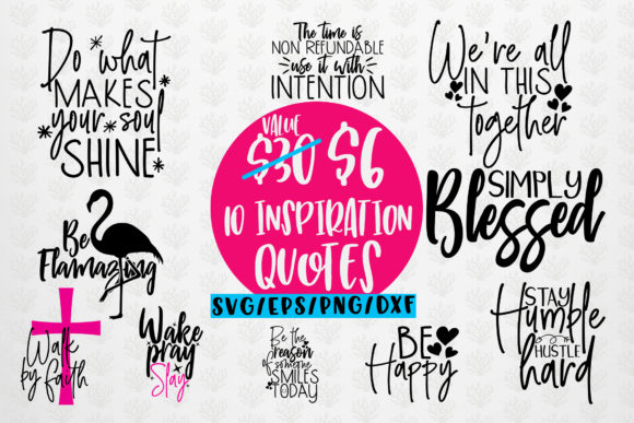 Inspiration Quote Bundle Graphic Crafts By CoralCutsSVG