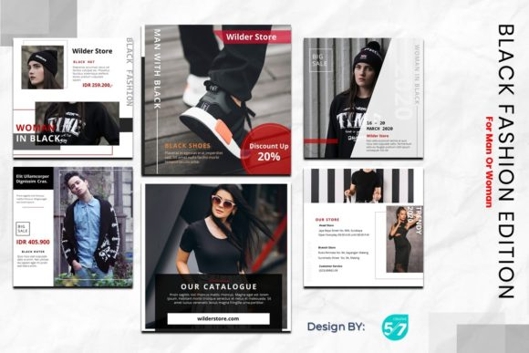 Download Free Instagram Feed Black Fashion Graphic By Maju57creative for Cricut Explore, Silhouette and other cutting machines.