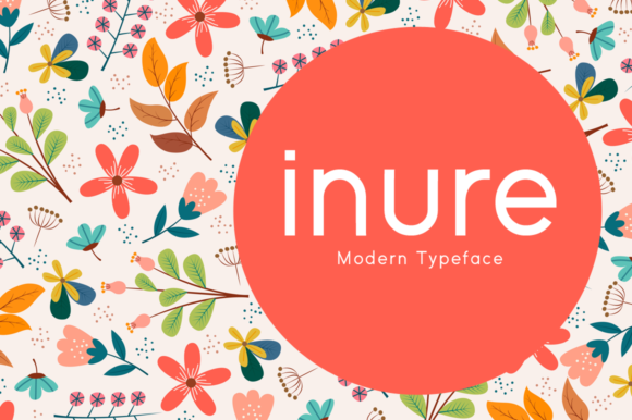 Print on Demand: Inure Display Font By Seemly Fonts