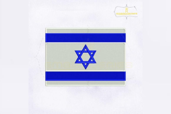 Israel Flag Asia Embroidery Design By RoyalEmbroideries