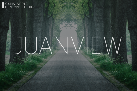 Print on Demand: Juanview Sans Serif Font By Huntype