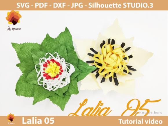 Download Free 21 Paper Flower Pd Designs Graphics for Cricut Explore, Silhouette and other cutting machines.