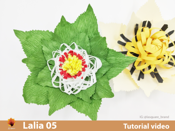 Download Free Lalia 05 Paper Flowers Template Graphic By Lasquare Info for Cricut Explore, Silhouette and other cutting machines.