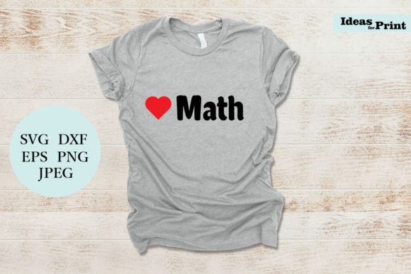 Download Free Love Math Graphic By Ideasforprint Creative Fabrica for Cricut Explore, Silhouette and other cutting machines.