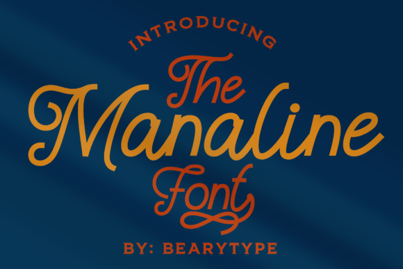 Print on Demand: Manaline Script & Handwritten Font By LetterBeary