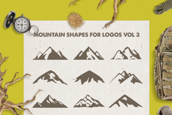 Print on Demand: Mountain Shapes Bundle Graphic Logos By LovePowerDesigns - Image 4